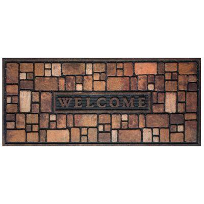 Tapete Caucho Welcome Stones 53x120 cm