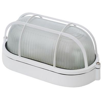Aplique Ovalado 1 luz E27 Blanco Aluminio