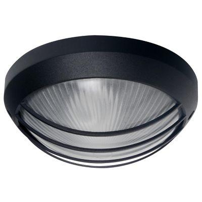Aplique Redondo 1 luz E27 Blanco Negro Aluminio