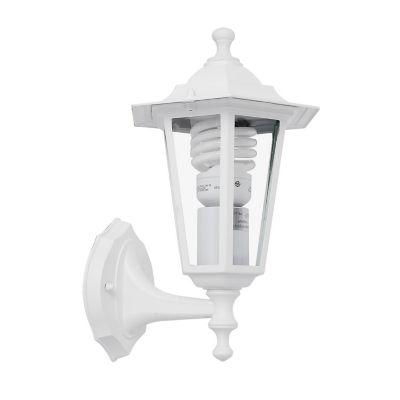 Farol Pared 1 luz E27 Blanco Aluminio