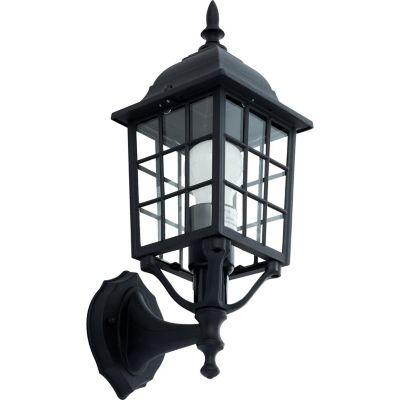 Farol Pared 1 luz E27 Negro Aluminio