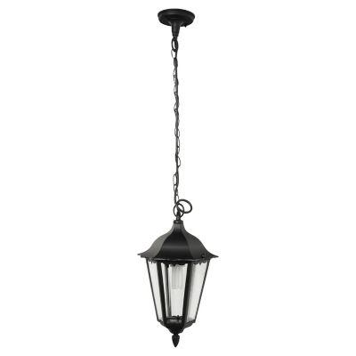 Farol Colgante 1 luz E27 Negro Aluminio