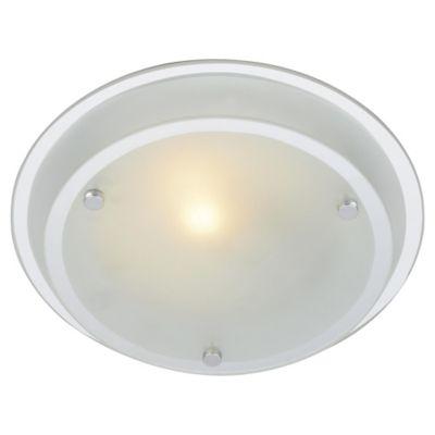 Plafón Blanco 23cm 1 Luz E27 Vidrio