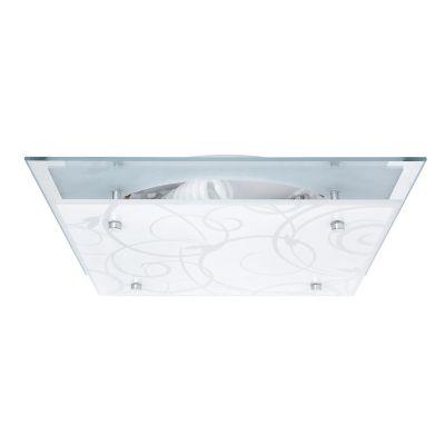 Plafón Cuadrado Ramas 31cm 2 Luces E27 Blanco Niquel