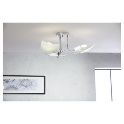 Lámpara para Techo Madrid 3 Luz Rosca E27 Satín - Vidrio