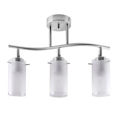 Lámpara para Techo Dirigible 3 Luces Rosca E27 Satín - Vidrio