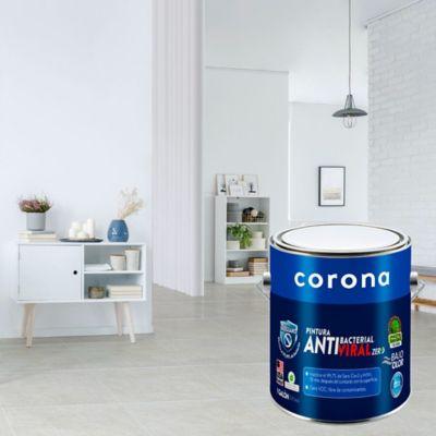 Pintura para Interior Antibacterial Satinada Blanco 1 Galón