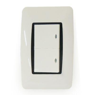 Interruptor Doble Iluminado Con Tapa Voretti