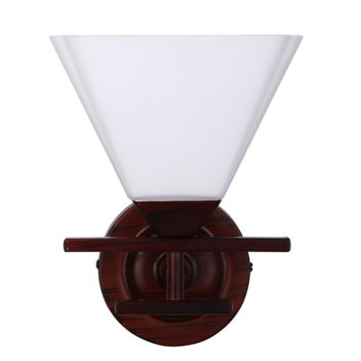 Aplique Rustico Tunez 1 Luz Rosca E27 Anticado - Vidrio