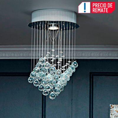 Lámpara De Cristal Colgante Esferas Cristales Triangulo
