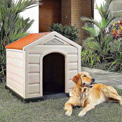 Casa para Perro Plástica 92 x 90 x 89 cm Razas Medianas y Grandes