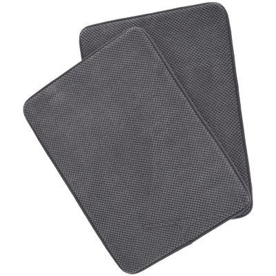 Set x2 Tapetes para Baño Foam 43x61 cm Gris