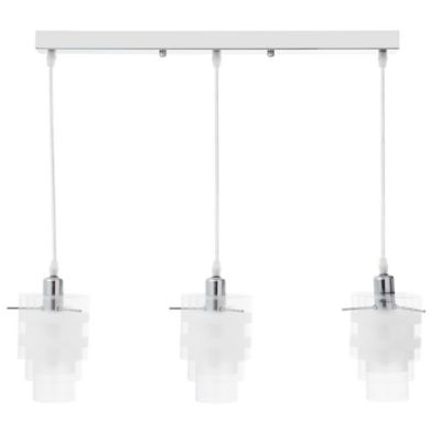 Lámpara Colgante 3 Luces Rosca E14 60w Cromo - Vidrio