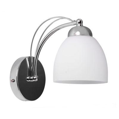 Aplique para Pared Sofisticado 1 Luz Rosca E27 Cromo - Vidrio
