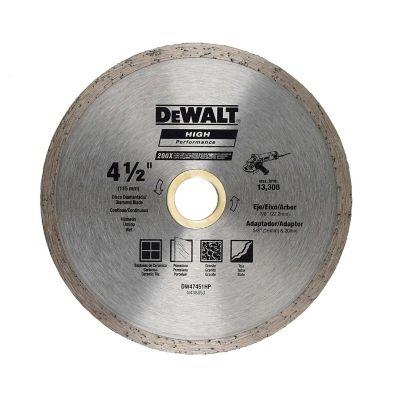 Disco Diamantado Continuo 4 1/2 Pulgadas  Ref DW47451HP