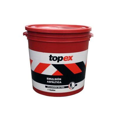 Emulsión Asfáltica Topex Aplicación en Frio 1 Galón