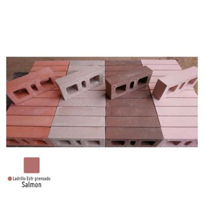 Ladrillo Estructural Prensado Salmón 24.5x12x6Cm