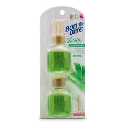 Ambientador Varitas Aromatizantes Bambú 2 Und x 80 ml Cada Uno