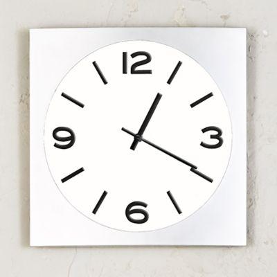 Reloj Silver Classic Blanco 35 cm