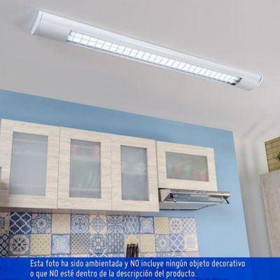 Lámpara Rejilla LED Alumi Blanca 2X9W L/Bca Ilumax