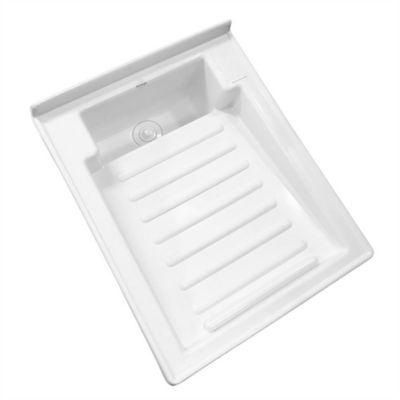 Lavadero Plástico De 60x46 cm Tipo Flauta Blanco