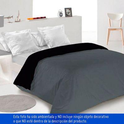 Duvet Bicolor Sencillo170x225 cm Gris - Negro