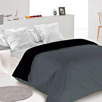 Duvet Bicolor Doble 210x230 cm Gris Negro