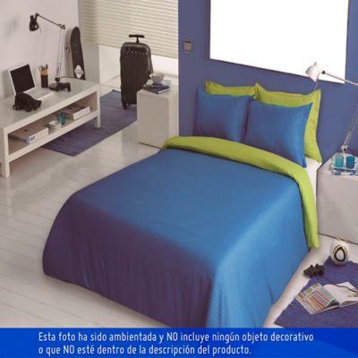 Duvet Bicolor Doble 210x230 cm Azul Verde