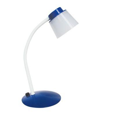 Lámpara de Escritorio LED Integrado 380 Lúmenes Dimerizable 5w Luz Fría Blanca - Azul