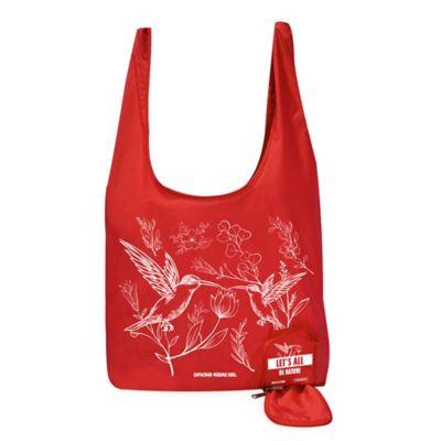 Bolsa reutilizable para compras autoempacable 46x70x7 cm en Poliéster Fucsia