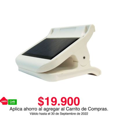 Clip de Luz Led Recargable con Panel Solar