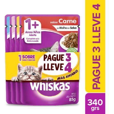 Alimento Húmedo Para Gato Adulto Carne Y Pollo Pague 3 Lleve 4