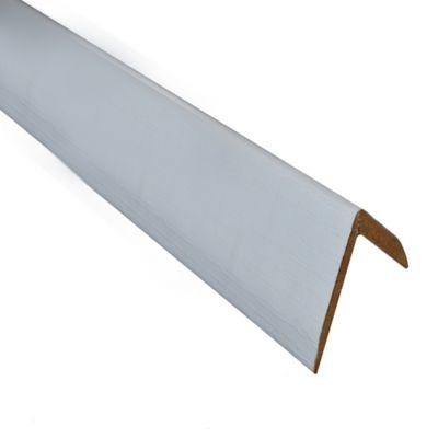 Esquinero mate blanco 2.6 x 2.6cm x 2.4m