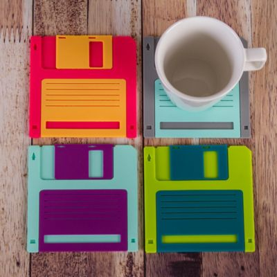 Set x 4 Portavasos Diskette