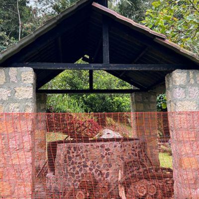 Malla Señalizacion Huecos 1x4 pulgadas 1.50x5m Naranja