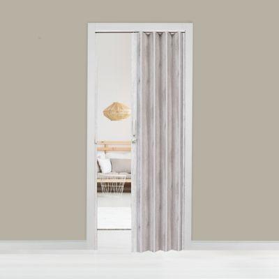 Puerta plegable laminada Pvc milano avellana 90 x 200 cm