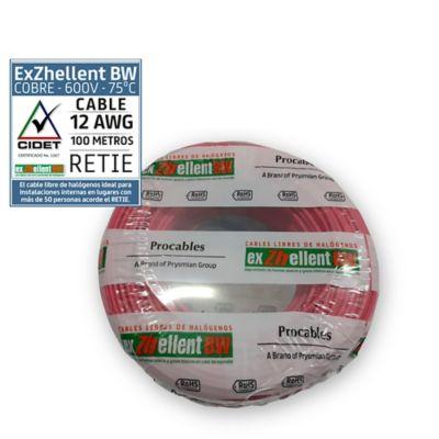 Cable 12 5m. Lib/Halog Rojo