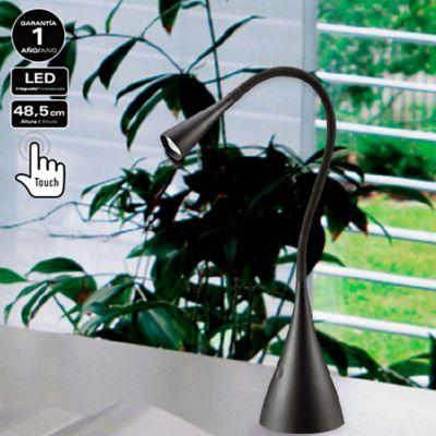 Lámpara de Escritorio LED Integrado 280 Lúmenes 3.5w Toque Dimerizable Negra