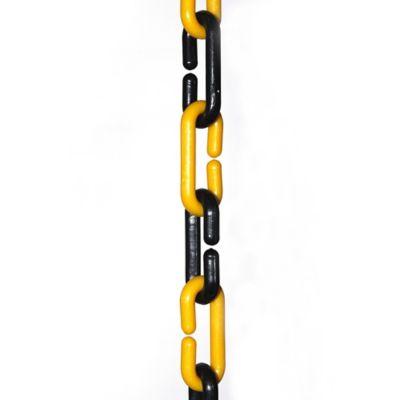 Cadena Plástica Eslabonada negra-amarilla x 3m