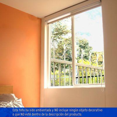 Ventana 1x1m corrediza pvc plus altavista transparente vidrio 3 mm
