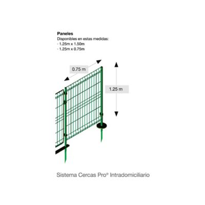 Reja de Acero Galvanizada Verde 1.25.x0.75m