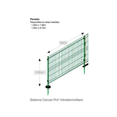Reja de Acero Galvanizada Verde 1.25.x1.50m
