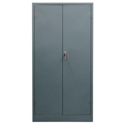 Armario Papelero 2 Puertas 160x92x45 cm Gris
