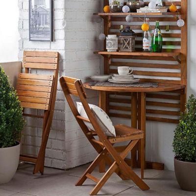 Mueble Organizador Terraza Con Mesa