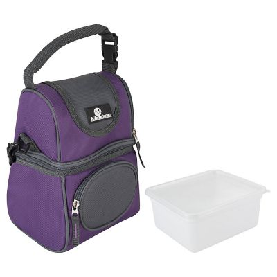 Nevera Soft Con 2 Áreas y Caja Púrpura