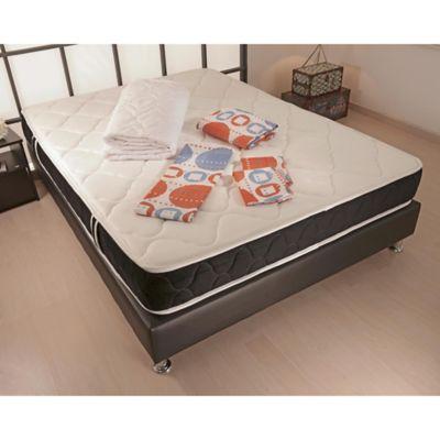 Combo Colchón Genesis 140x190cm + Base Cama Completa + Protector