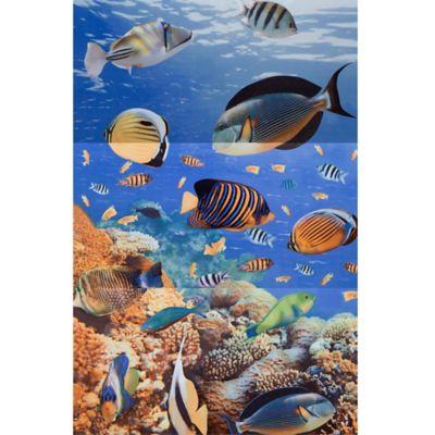 Mural Cerámico Decorativo para Baño Aguamarina 30x60 Centímetros 3 Piezas Multicolor