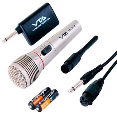 Micrófono Inalámbrico con Transmisor Alcance 20 Metros VTA-82305