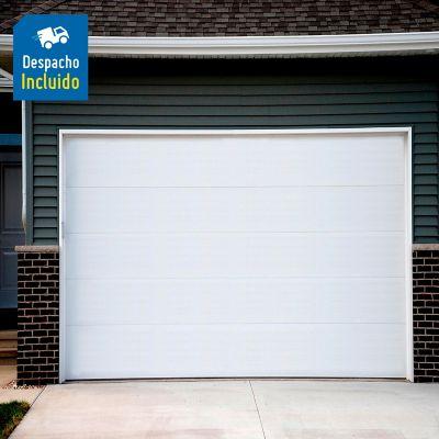 Puerta de Garaje Acero Galvanizado 2.44x2.14 Mts. Lisa Bco