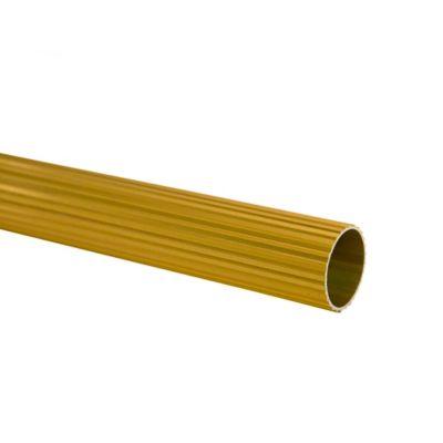 Tubo Ranurado 25 mm x 200 cm Dorado